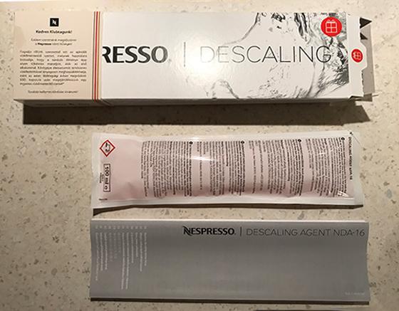 NESPRESSO純正の湯垢洗浄剤(Nespresso Descaling Solution)