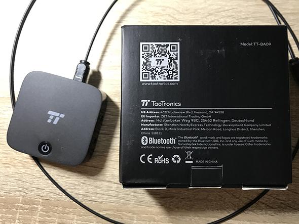 TaoTronics Bluetoothトランスミッター レシーバー (Model: TT-BA09)